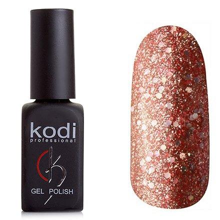 Kodi, Гель-лак № 200 (7ml)Kodi Professional <br>Гель-лак темно-медный оттенок с перламутром и большим количеством крупных и мелких блесток, плотный,7мл.<br>