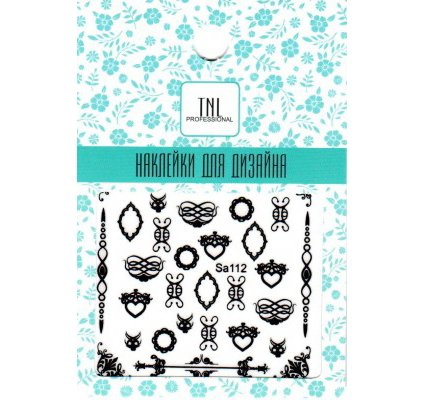 TNL, Наклейки для дизайна SA112Наклейки для дизайна ногтей<br>Наклейки для дизайна<br>