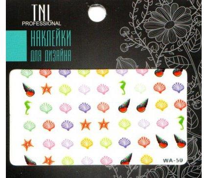 TNL, Наклейки для дизайна Premium WA-50Наклейки для дизайна ногтей<br>Наклейки для дизайна Premium<br>