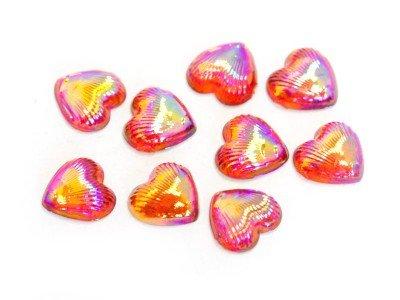 TNL, Пластиковый дизайн - Сердце (Радуга, 10 шт/уп)Пластиковый дизайн<br>Пластиковый дизайн - Сердце<br>
