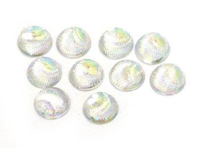 TNL, Пластиковый дизайн - Круглый (Жемчуг, 10 шт.в уп.)Пластиковый дизайн<br>Пластиковый дизайн - Круглый<br>