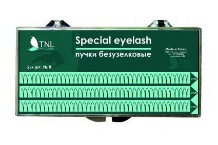 TNL, Ресницы на ленте пучки безузелковые 10-ти шт. (mix №8, 10, 12) (TNL Professional (Корея))