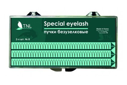 TNL, Ресницы на ленте пучки безузелковые 6-ти шт. (mix №8, 10, 12)Наращивание для ресниц<br>Ресницы на ленте пучки безузелковые 6-ти шт. (mix №8, 10, 12)<br>