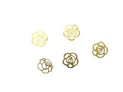 TNL, Дизайн золотистый металл - Роза (20 шт.в уп.)Металлические украшения<br>Дизайн золотистый металл - Роза<br>