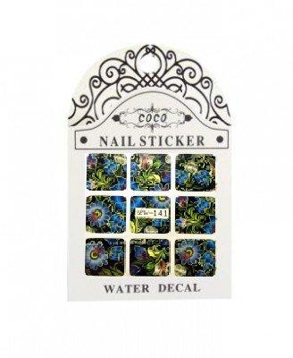 Coco, Nail Sticker - Слайдер-дизайн LW-141Слайдер-дизайн Coco<br>Слайдер-дизайн<br>