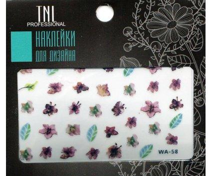 TNL, Наклейки для дизайна Premium WA-58Наклейки для дизайна ногтей<br>Наклейки для дизайна Premium<br>