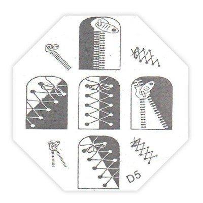 TNL, Трафарет металлический для стемпинга D5Диски для стемпинга TNL<br>Трафарет металлический для стемпинга<br>