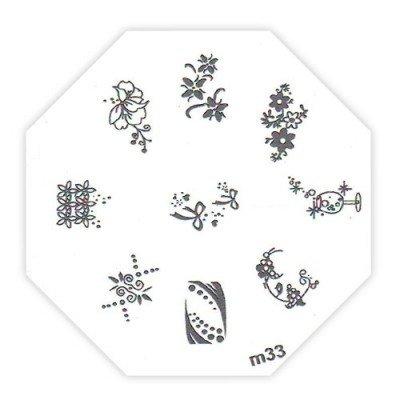 TNL, Трафарет металлический для стемпинга M33Диски для стемпинга TNL<br>Трафарет металлический для стемпинга<br>