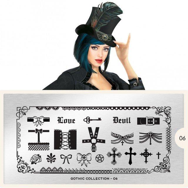 Пластина MoYou London Gothic 06Пластины для стемпинга MoYou London<br>Коллекция Gothic<br>