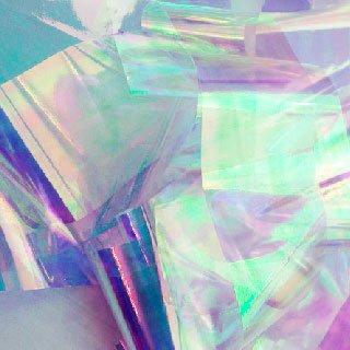 NelTes, Фольга - Битое стекло (бело-голубое)Битое стекло<br>Фольга для создания эффекта битое стекло или стеклянные ногти<br>