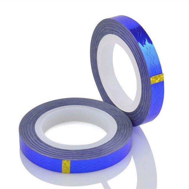 Bluesky, Фигурная самоклеющаяся фольга-лента (синяя)Самоклеющаяся лента для дизайна ногтей<br>Фигурная самоклеющаяся фольга-лента<br>