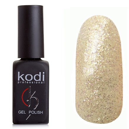 Kodi, Гель-лак № 210 (8ml)Kodi Professional <br>Гель-лак прозрачный с золотыми и сиреневыми блестками, полупрозрачный, 8мл.<br>
