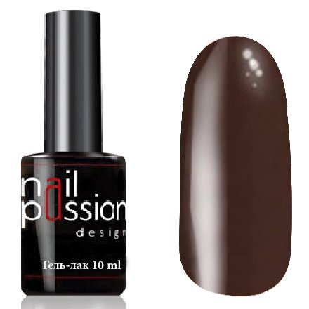 Nail Passion, Гель-лак - Горький шоколад 2109 (10 мл.)Nail Passion<br>Гель-лак, шоколадный, эмалевый, плотный<br>