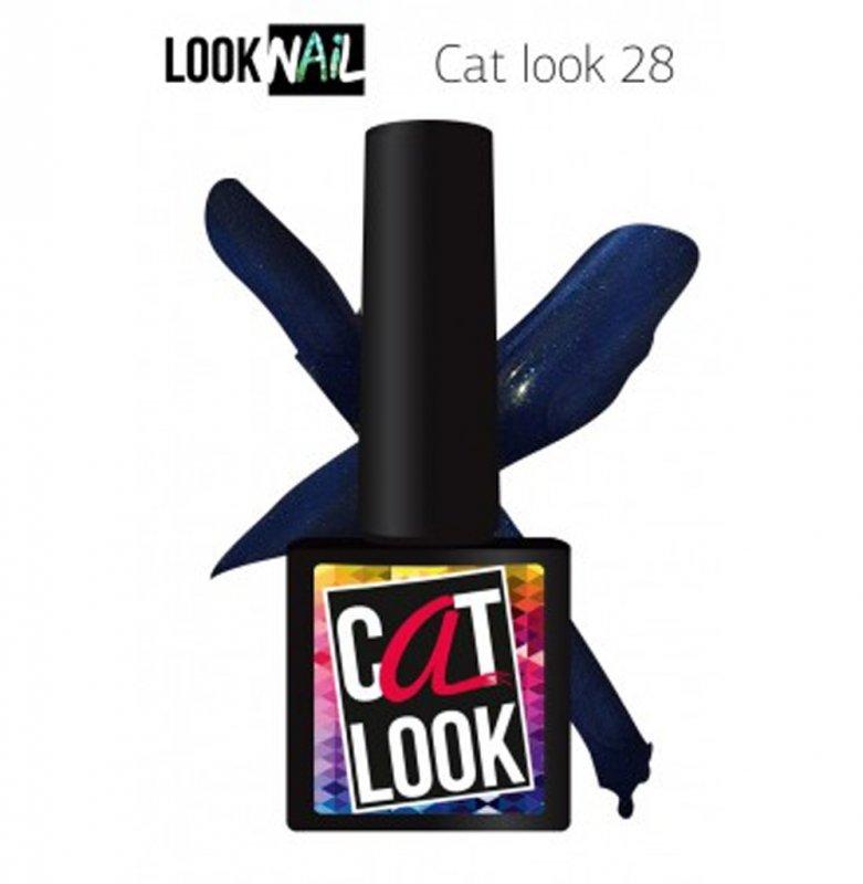 Look Nail, Cat Look - Кошачий глаз №28 (10 ml.)Look Nail<br>Гель-лак кошачий глаз, синий, с блестками и перламутром,плотный<br>