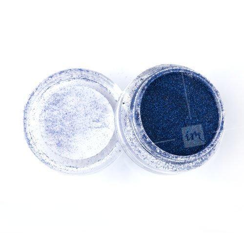 NelTes, Зеркальный блеск (Темно-синий АВ, мелкий помол)Зеркальная втирка<br>Глиттерная втирка<br>
