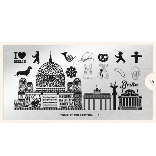 MoYou London, Пластина для стемпинга Tourist 16Пластины для стемпинга MoYou London<br>Коллекция Tourist<br>