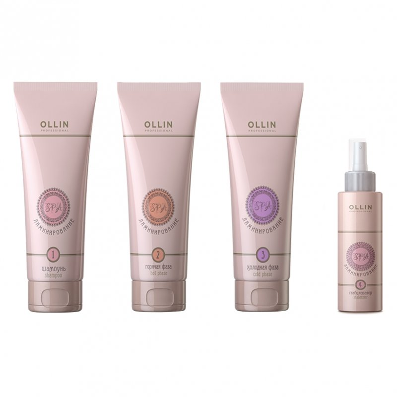 Ollin, Спа-ламинирование - Набор для ламинирования волос (4 средства) (Ollin Professional)