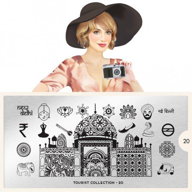 Пластина MoYou London Tourist 20Пластины для стемпинга MoYou London<br>Коллекция Tourist<br>