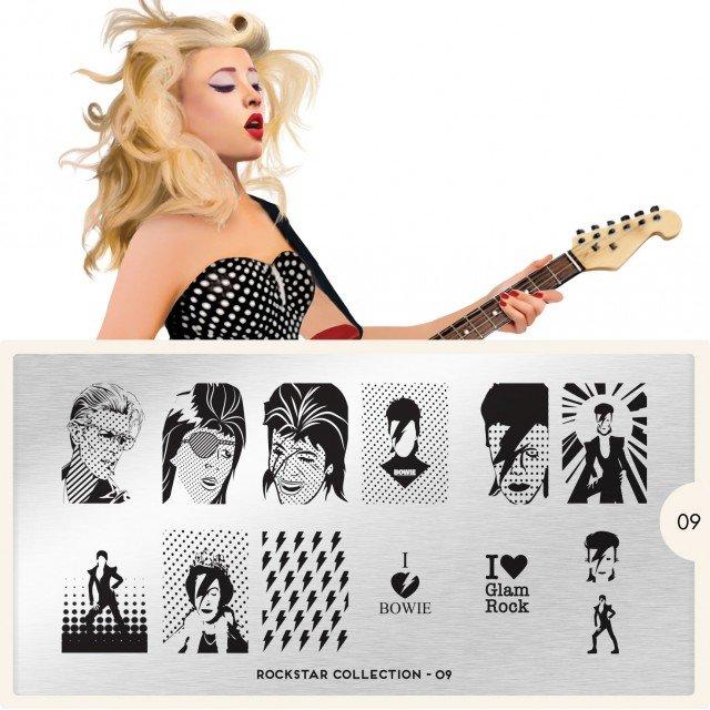 Пластина MoYou London Rockstar 09Пластины для стемпинга MoYou London<br>Коллекция Rockstar<br>