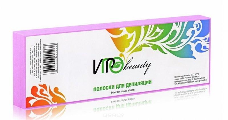 Igrobeauty, Полоски для депиляции (Розовые), 50штСопутствующие материалы<br>Бумага для эпиляции розового цвета в полосках, размер7х22 см, в упаковке 50 шт<br>