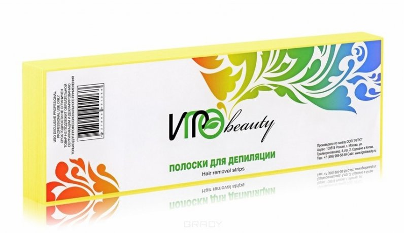 Igrobeauty, Полоски для депиляции (Желтые), 100штСопутствующие материалы<br>Бумага для эпиляции желтого цвета в полосках, размер7х22 см, в упаковке 100 шт<br>