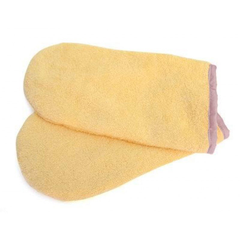 Igrobeauty, Махровые варежки для парафинотерапии (персик, 1 пара)Сопутствующие товары<br>Махровые утеплители для рук. Применяются во время процедуры парафинотерапии.<br>