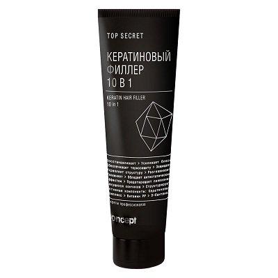 Concept, Top Secret Кератиновый филлер для волос 10 в 1 (100 мл.)Лечебные средства <br>Универсальная кератиново-витаминная защита для волос.<br>
