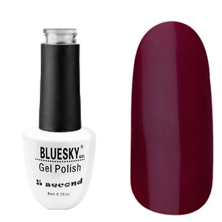 Bluesky, Гель-лак - 5 Second №12 (8 мл.)Bluesky 8 мл<br>Гель-лак, бордово-вишневый, плотный.<br>