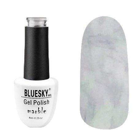 Bluesky, Гель-лак - Marble №04 (8 мл.)Bluesky 8 мл<br>Гель-лак с эффектом мрамора, серо-белый, с сиренево-зеленоватым рисунком, плотный<br>