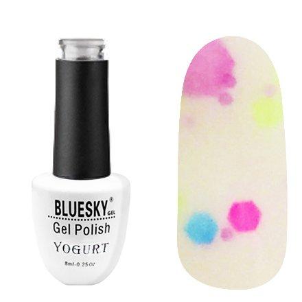 Bluesky, Гель-лак - Yogurt №11 (8 мл.)Bluesky 8 мл<br>Гель-лак, йогуртовый белый, полупрозрачный, с конфетти.<br>
