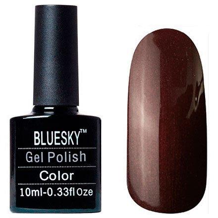 Bluesky, Шеллак цвет Z314 10mlBluesky 10 мл<br>Гель-лак коричневый, перламутровый, плотный<br>