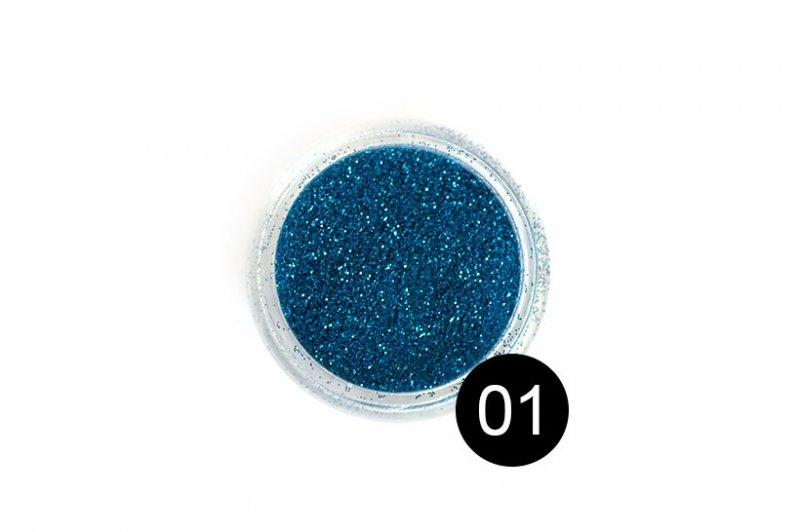 TNL, Блестки в банке №1Блестки<br>Блестки для дизайна ногтей, лазурный синий<br>
