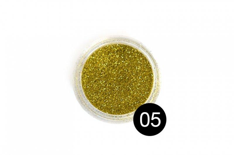 TNL, Блестки в банке №5Блестки<br>Блестки для дизайна ногтей, золотой<br>