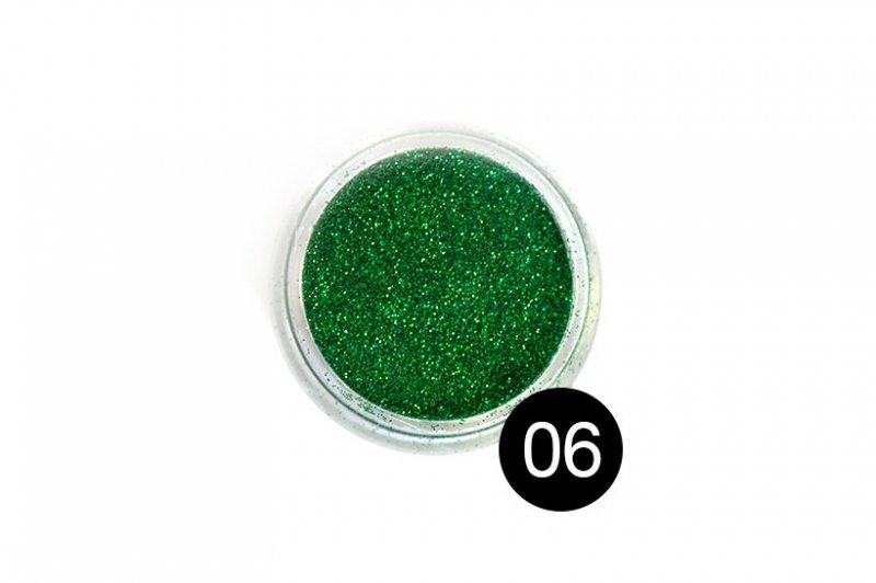 TNL, Блестки в банке №6Блестки<br>Блестки для дизайна ногтей, зеленый<br>