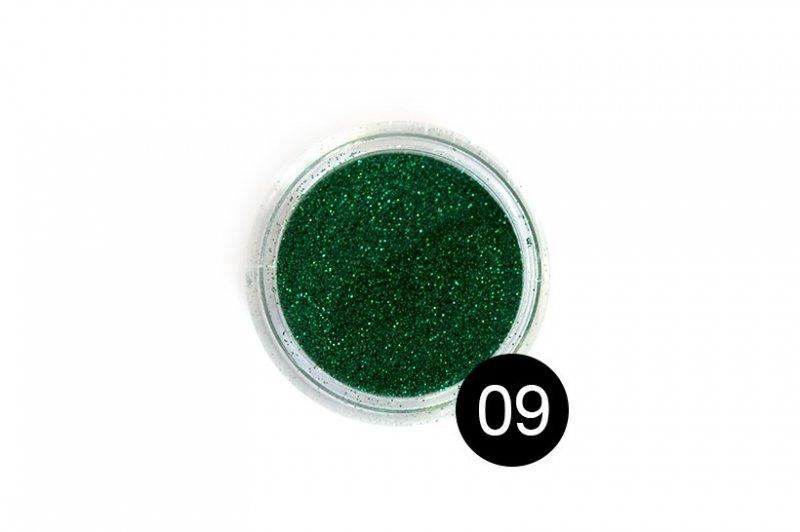 TNL, Блестки в банке №9Блестки<br>Блестки для дизайна ногтей, изумрудный<br>