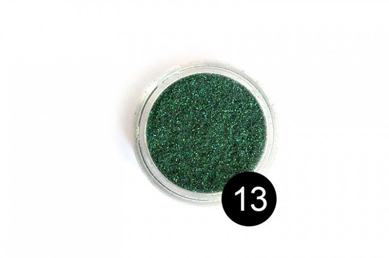 TNL, Блестки в банке №13Блестки<br>Блестки для дизайна ногтей, зеленый с золотистым вкраплением<br>