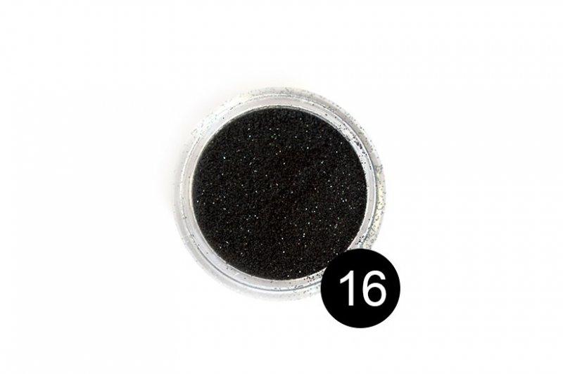 TNL, Блестки в банке №16Блестки<br>Блестки для дизайна ногтей, черный<br>