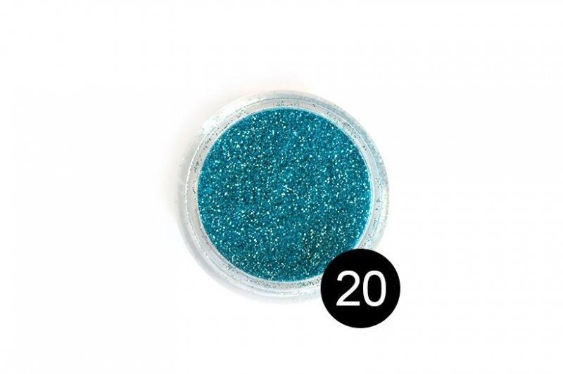 TNL, Блестки в банке №20Блестки<br>Блестки для дизайна ногтей, голубой металлик<br>