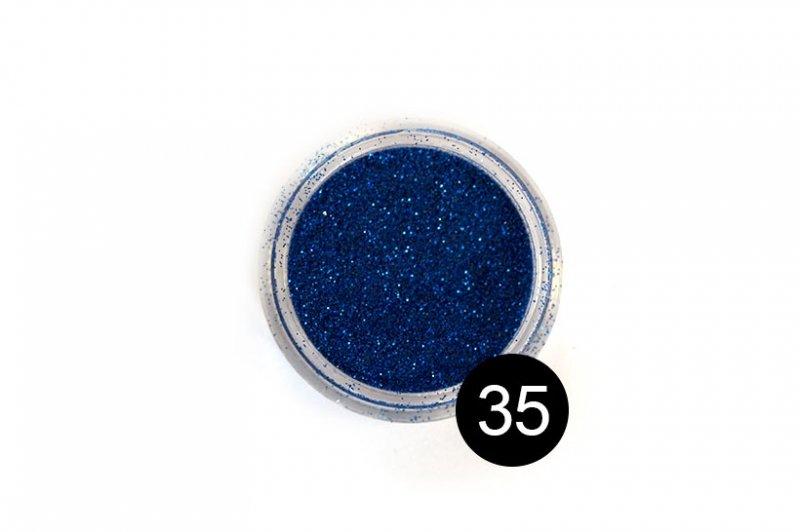 TNL, Блестки в банке №35Блестки<br>Блестки для дизайна ногтей, ультрамарин<br>