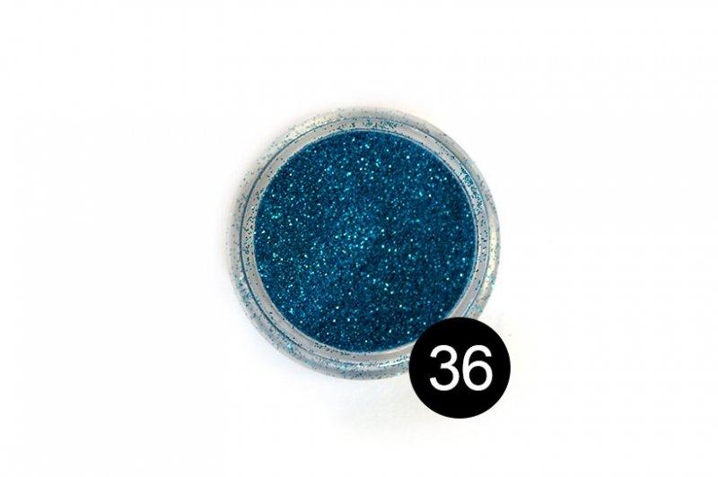 TNL, Блестки в банке №36Блестки<br>Блестки для дизайна ногтей, синий металлик<br>