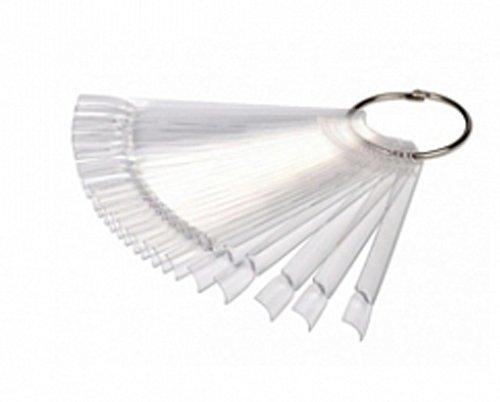NelTes, Палитра веерная на кольце (прозрачная, 50 шт.)Типсы, формы, палитры<br>Палитра-веер на кольце для демонстрации лаков и дизайна.<br>