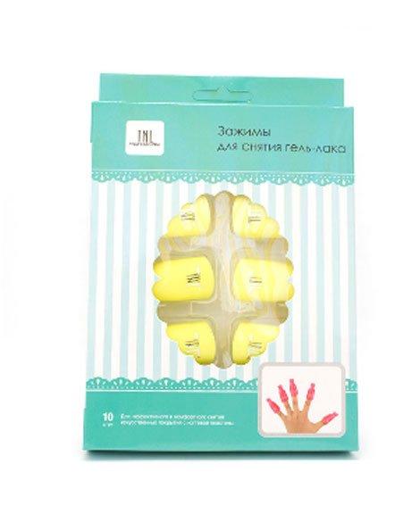 TNL, Зажимы для снятия гель-лака, 10шт (желтый)Сопутствующие инструменты<br>Зажимы применяются для процедуры снятия гель-лакового покрытия.<br>