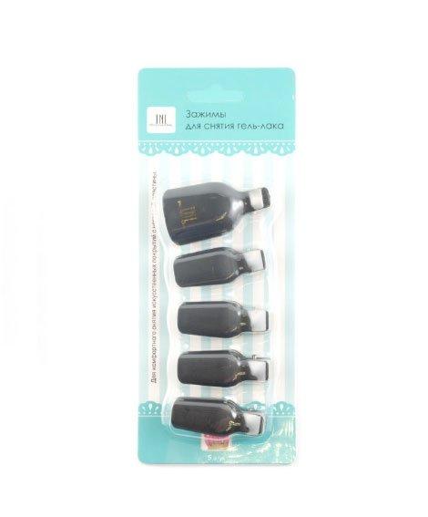 TNL, Зажимы для снятия гель-лака на ногах, 5шт (черный)Сопутствующие инструменты<br>Зажимы применяются для процедуры снятия гель-лакового покрытия.<br>