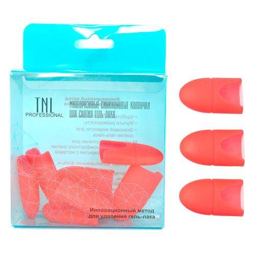 TNL, Силиконовые колпачки для снятия гель-лака - Красные (10 шт.)Сопутствующие инструменты<br>Силиконовые колпачки для снятия гель-лака<br>