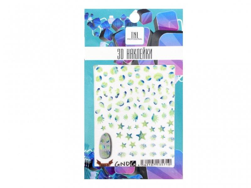 TNL, 3D Наклейка S02-3Наклейки для дизайна ногтей<br>3D Наклейка<br>