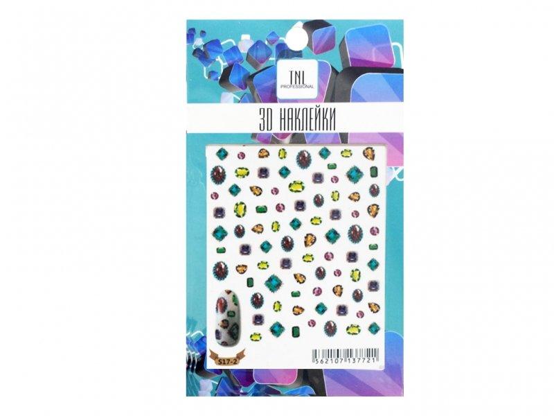 TNL, 3D Наклейка S17-2Наклейки для дизайна ногтей<br>3D Наклейка<br>