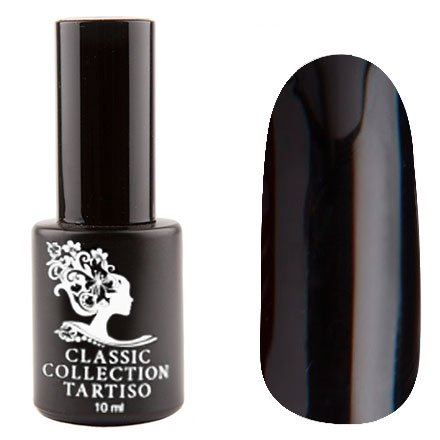 Tartiso, Гель-лак - Classic TCL-12 (10 мл.)Tartiso <br>Гель-лак, классический черный, глянцевый, плотный<br>