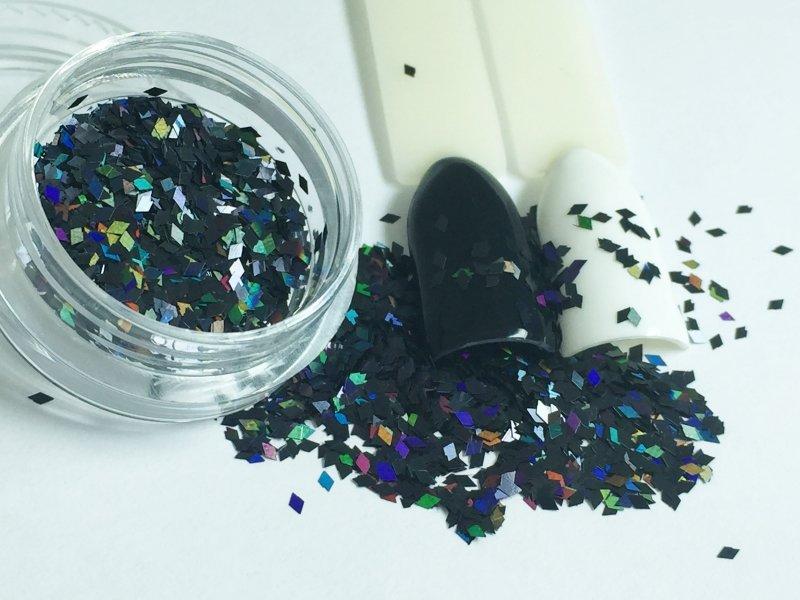 NelTes, Ромбики (черный, 1 мм.)Камифубуки для дизайна ногтей<br>Ромбикидля дизайна ногтей<br>