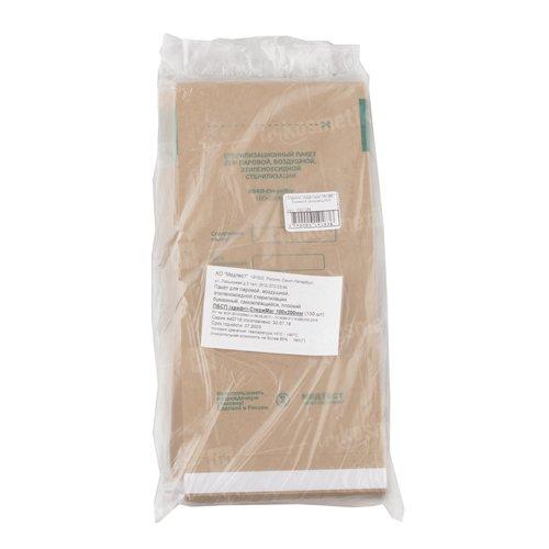 СтериМаг, Крафт-пакет 100*250 бумажный самоклеющийсяПрочие материалы <br>Пакет для стерилизации бежевого цвета используется для устранения с поверхности приборов и инструментов вредных веществ.<br>