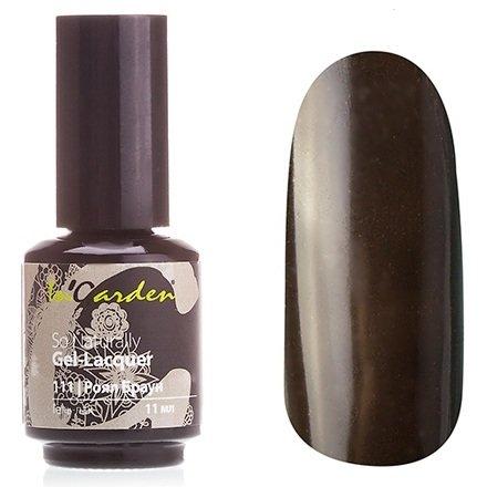 InGarden So Naturally, цвет №111 Роял БраунInGarden So Naturally<br>Гель-лак, темно-шоколадный, без блесток и перламутра, плотный,11 ml<br>